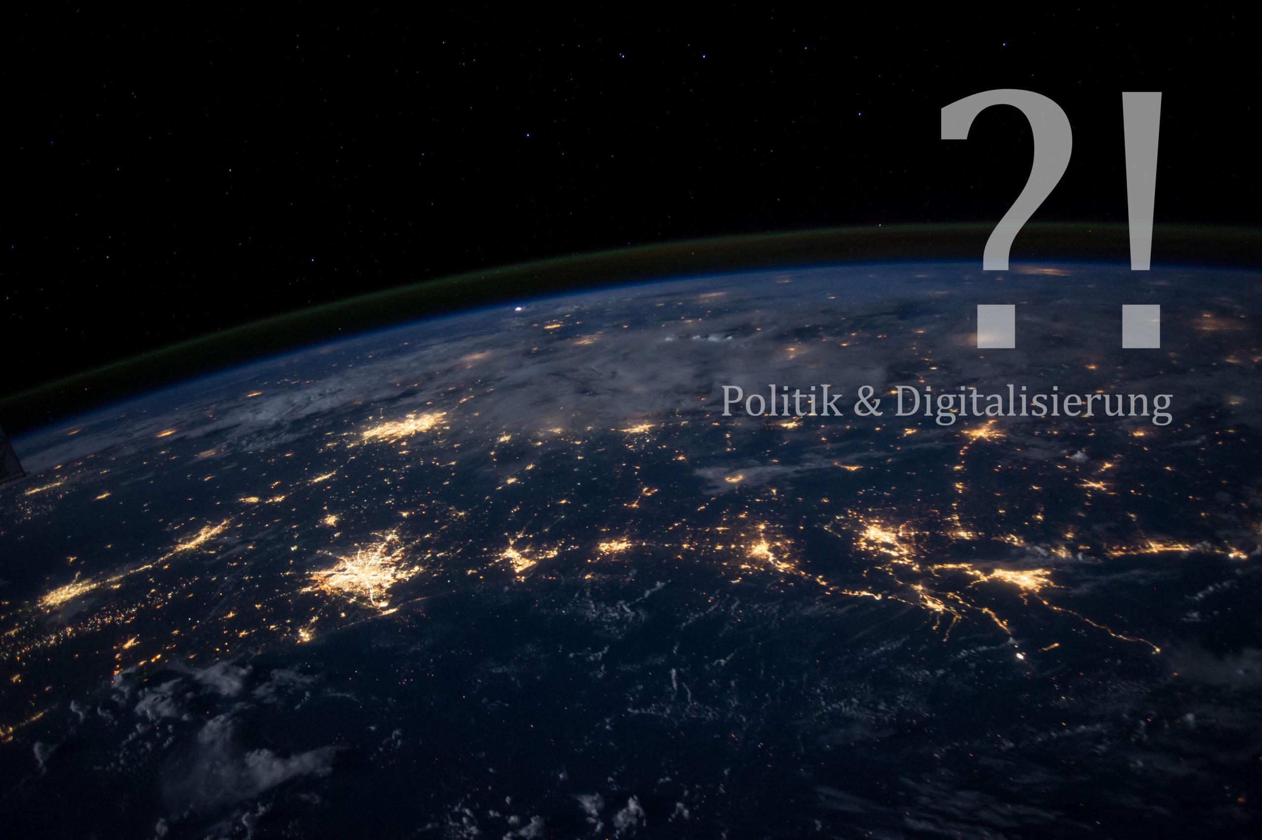 Politik und Digitalisierung, digitales Zeitalter
